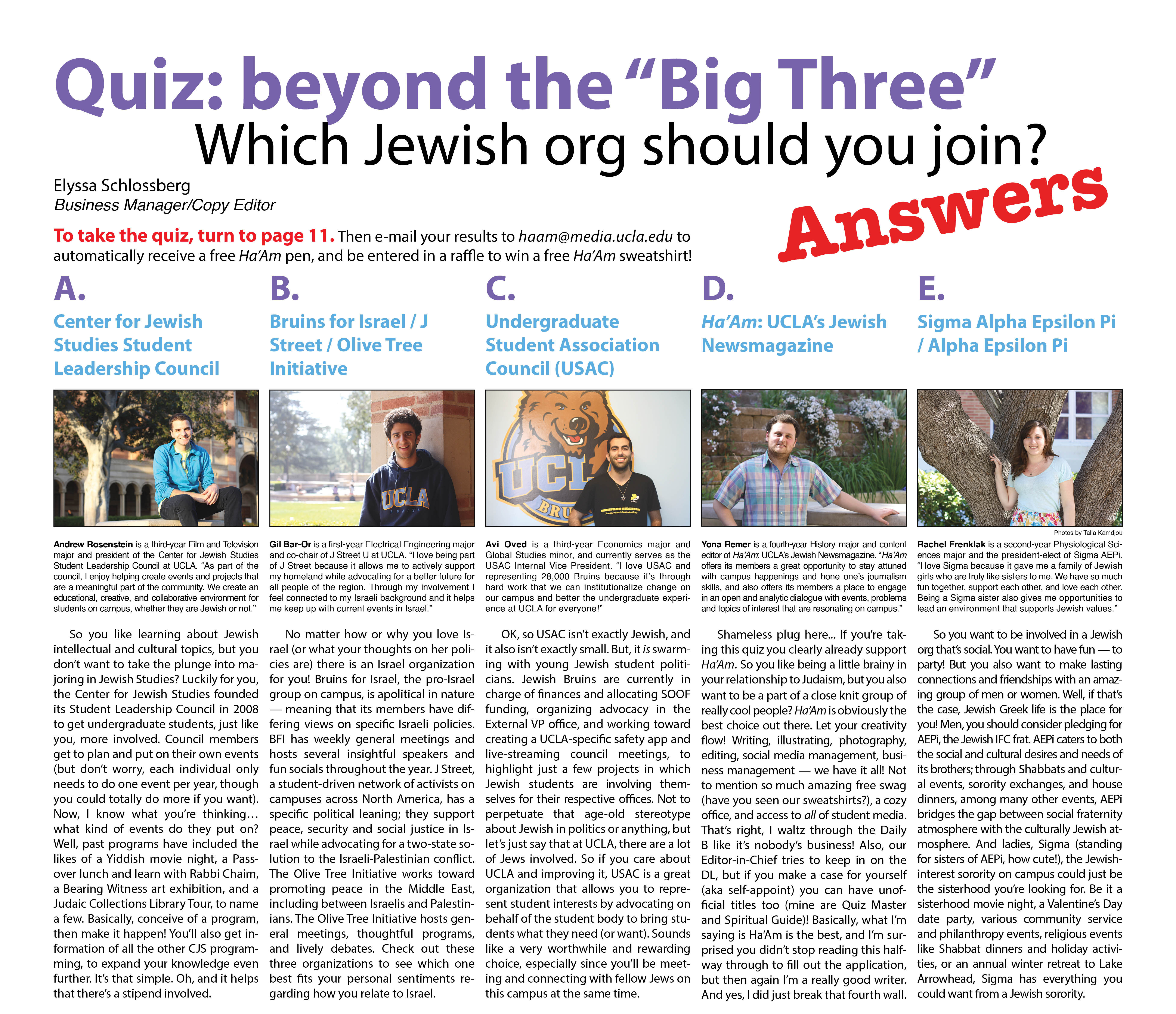 """Quiz: Beyond the """"Big Three"""" — Which Jewish org should you"""
