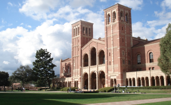 Royce Hall, one of the four original buildings on UCLA's Westwood campus. (Photo by Alton / Wikimedia)