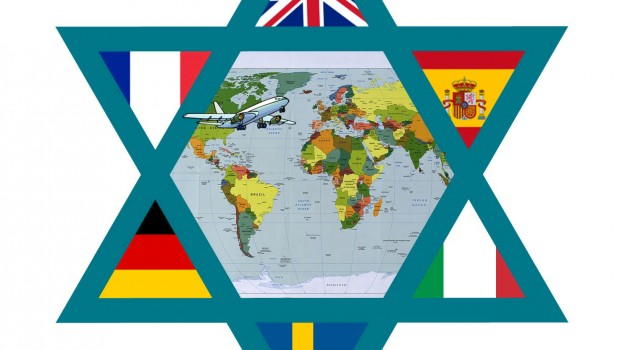 Students can study abroad basically anywhere these days; these flags represent only a handful of popular destinations that students, including Jewish ones, attend. Photo credit: Simone Dvoskin